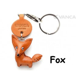 Fox Japanese Leather Keychains Animal