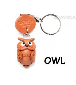 Owl Japanese Leather Keychains Animal