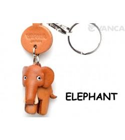 Elephant Japanese Leather Keychains Animal
