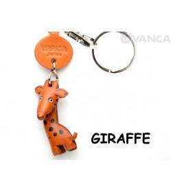 Giraffe Japanese Leather Keychains Animal