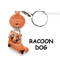 Raccoon dog Japanese Leather Keychains Animal