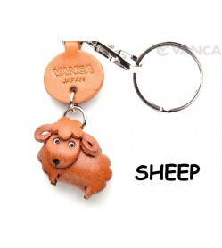 Sheep Japanese Leather Keychains Animal
