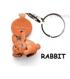 Rabbit Japanese Leather Keychains Animal