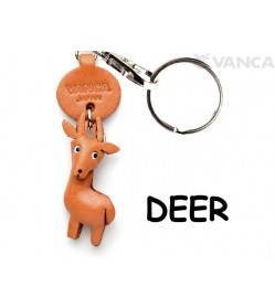 Deer Japanese Leather Keychains Animal