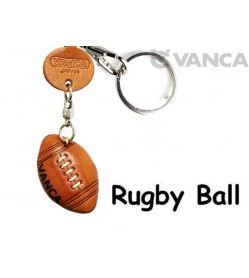 Rugby Ball Japanese Leather Keychains Goods