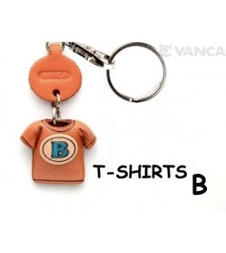 B(Blue) Japanese Leather Keychains T-shirt