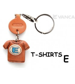 E(Blue) Japanese Leather Keychains T-shirt