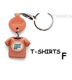 F(Blue) Japanese Leather Keychains T-shirt
