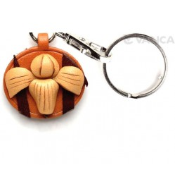 Iris Leather Flower Keychain