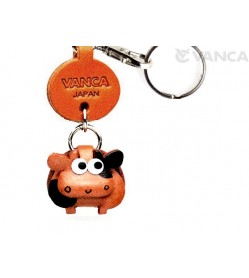 Cow Leather Keychains Little Zodiac Mascot