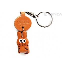 Rabbit Leather Keychains Little Zodiac Mascot
