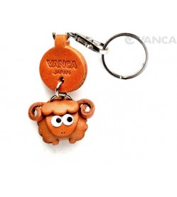 Sheep Leather Keychains Little Zodiac Mascot