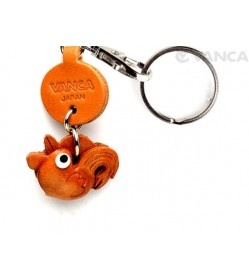 Rooster Leather Keychains Little Zodiac Mascot