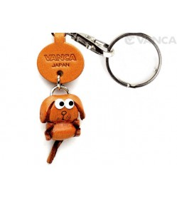 Dog Leather Keychains Little Zodiac Mascot