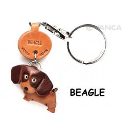 Beagle Leather Dog Keychain