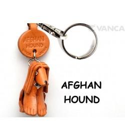 Afghan Hound Leather Dog Keychain