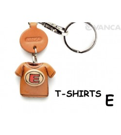 E(Red) Japanese Leather Keychains T-shirt