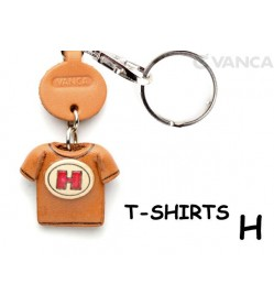 H(Red) Japanese Leather Keychains T-shirt