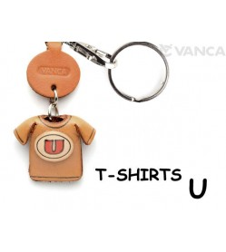 U(Red) Japanese Leather Keychains T-shirt