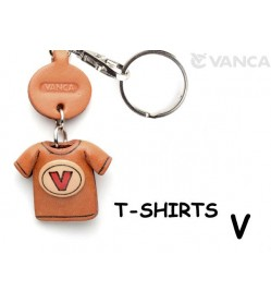 V(Red) Japanese Leather Keychains T-shirt