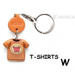 W(Red) Japanese Leather Keychains T-shirt