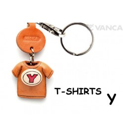Y(Red) Japanese Leather Keychains T-shirt