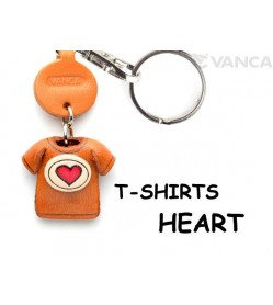 Heart Mark(Red) Japanese Leather Keychains T-shirt