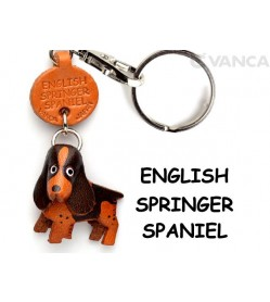 English Springer Leather Dog Keychain
