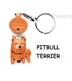 Pit Bull Leather Dog Keychain