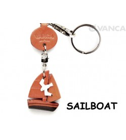 Sailboat Japanese Leather Keychains Goods