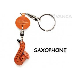 Saxophone Leather Keychain