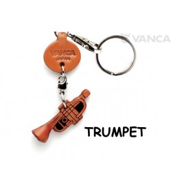 Trumpet Leather Keychain