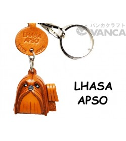 Lhasa Apso Leather Dog Keychain