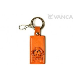 Shih Tzu Leather Name Plate Holder Keychain