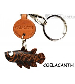 Coelacanth Japanese Leather Keychains Fish