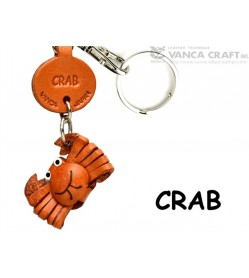 Crab Japanese Leather Keychains Fish