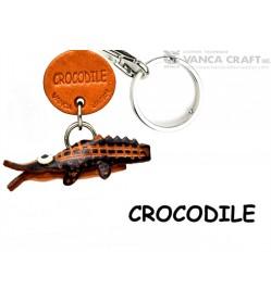 Crocodile Japanese Leather Keychains Fish