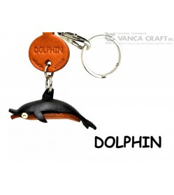 Dolphin Japanese Leather Keychains Fish