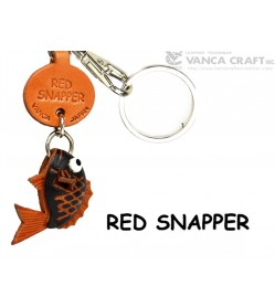 Red Snapper Japanese Leather Keychains Fish