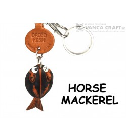 Horse Mackerel Japanese Leather Keychains Fish