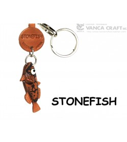 Stonefish Japanese Leather Keychains Fish