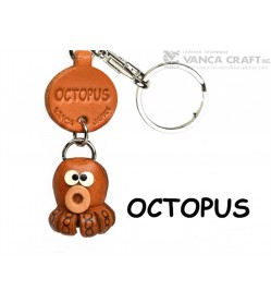 Octopus Japanese Leather Keychains Fish