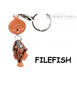 Filefish Japanese Leather Keychains Fish