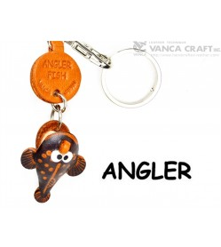 Angler fish Japanese Leather Keychains Fish
