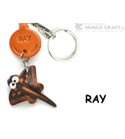 Ray Japanese Leather Keychains Fish
