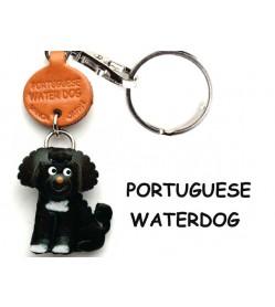 Portuguese Water Dog Leather Dog Keychain