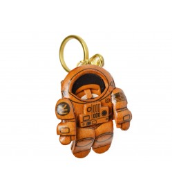 Genuine 3D Leather Astronaut Leather Keychain(L) is made by skillful craftsmen of VANCA CRAFT in Japan.