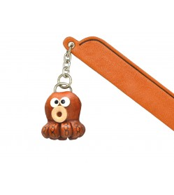 Octopus Leather Charm Bookmarker