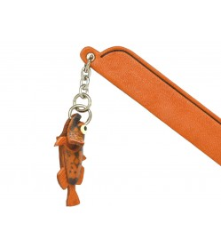 Stonefish Leather Charm Bookmarker
