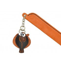 Flatfish Leather Charm Bookmarker